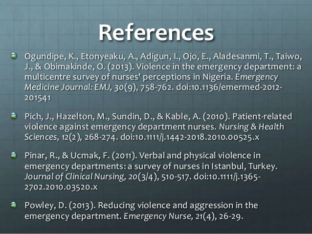 Antecedents and precipitants of patient-related violence ...