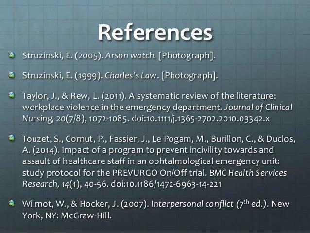 Emergency Department Violence Surveillance Study