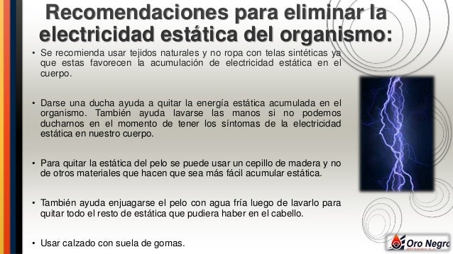 Energia estatica for Eliminar electricidad estatica oficina