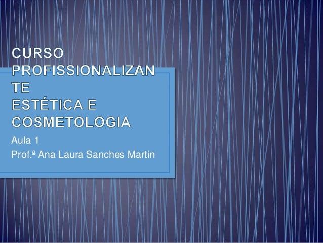 Aula 1 Prof.ª Ana Laura Sanches Martin