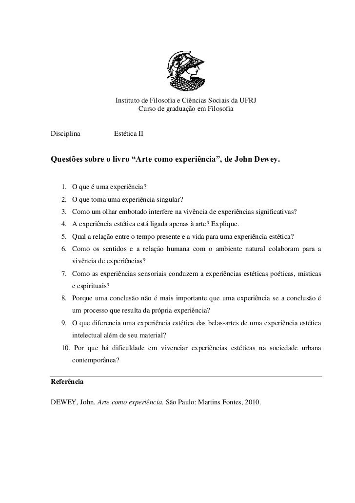 Instituto de Filosofia e Ciências Sociais da UFRJ                                 Curso de graduação em FilosofiaDisciplin...