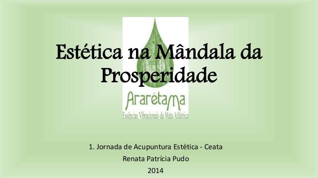 Estética na Mândala da Prosperidade 1. Jornada de Acupuntura Estética - Ceata Renata Patrícia Pudo 2014
