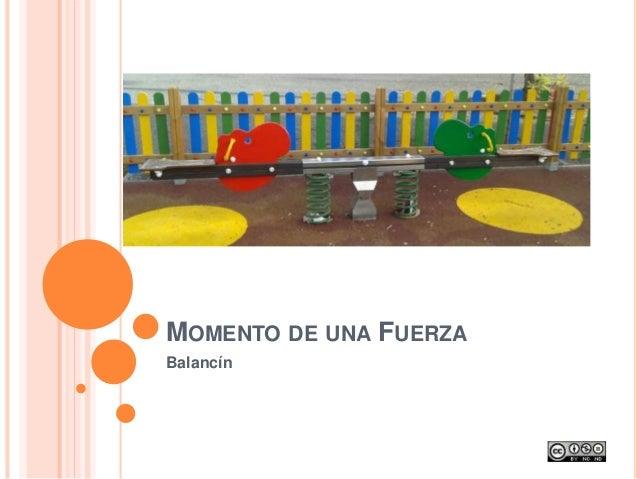 MOMENTO DE UNA FUERZA Balancín