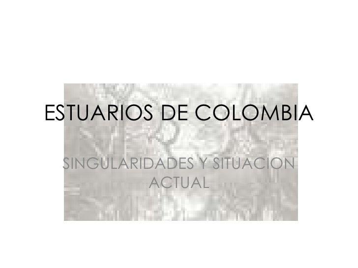 ESTUARIOS DE COLOMBIA<br />SINGULARIDADES Y SITUACION ACTUAL<br />