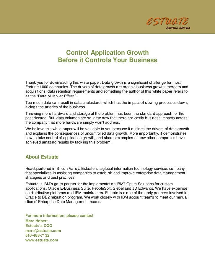Control Application Growth                   Before it Controls Your BusinessThank you for downloading this white paper. D...