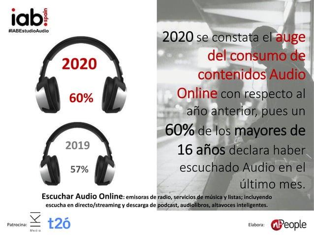 #IABEstudioAudio Patrocina: Elabora: Escuchar Audio Online: emisoras de radio, servicios de música y listas; incluyendo es...