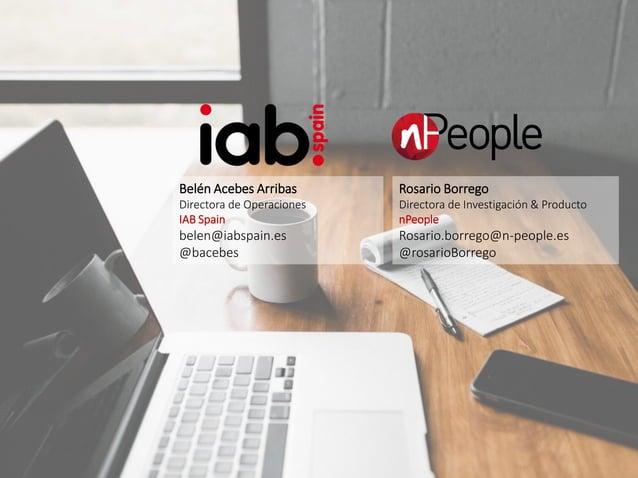 #IABEstudioAudio Patrocina: Elabora: Belén Acebes Arribas Directora de Operaciones IAB Spain belen@iabspain.es @bacebes Ro...
