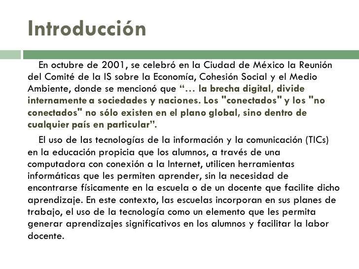 Introducción <ul><li>En octubre de 2001, se celebró en la Ciudad de México la Reunión del Comité de la IS sobre la Economí...