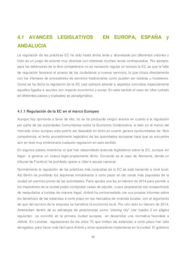 55 4.1 AVANCES LEGISLATIVOS EN EUROPA, ESPAÑA y ANDALUCIA La regulación de las practicas EC ha sido hasta ahora lenta y at...