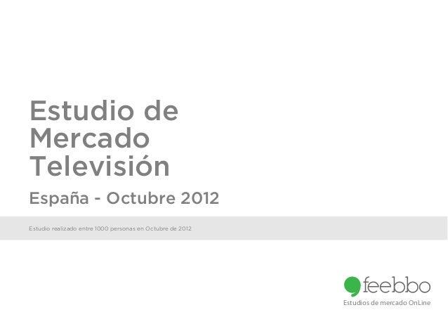 Estudio deMercadoTelevisiónEspaña - Octubre 2012Estudio realizado entre 1000 personas en Octubre de 2012                  ...