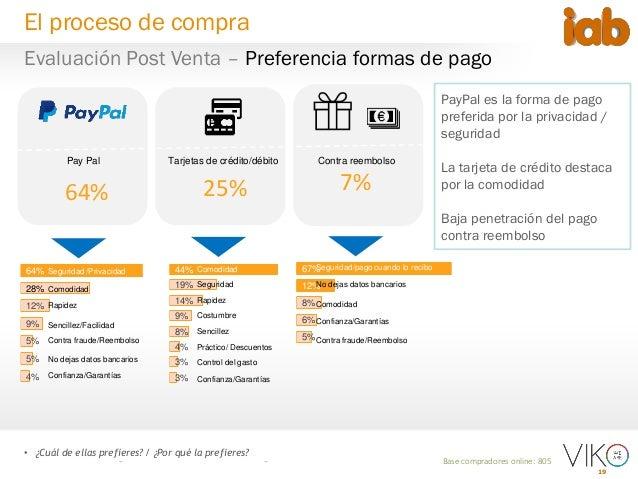 19 • ¿Cuál de ellas prefieres? / ¿Por qué la prefieres? Base compradores online: 805 25% Pay Pal Contra reembolsoTarjetas ...