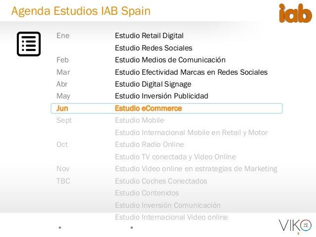 2 Agenda Estudios IAB Spain Ene Estudio Retail Digital Estudio Redes Sociales Feb Estudio Medios de Comunicación Mar Estud...