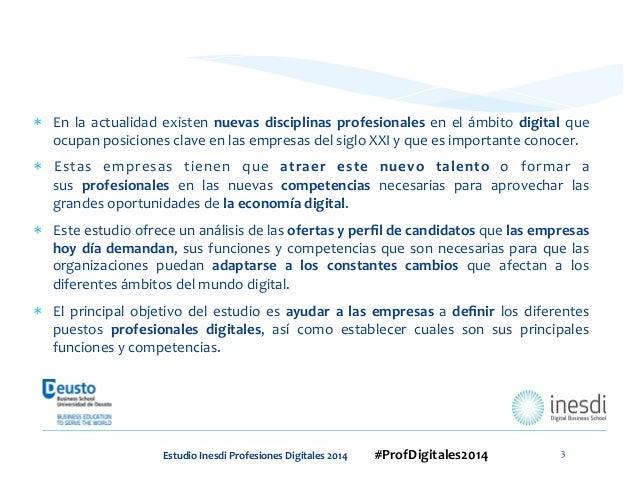 Estudio nuevas profesiones 2014 by Inesdi / Deusto Slide 3