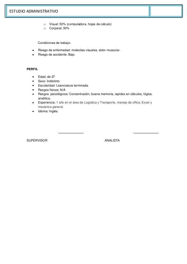 Estudio administrativo de una empresa de transporte (ejemplo)
