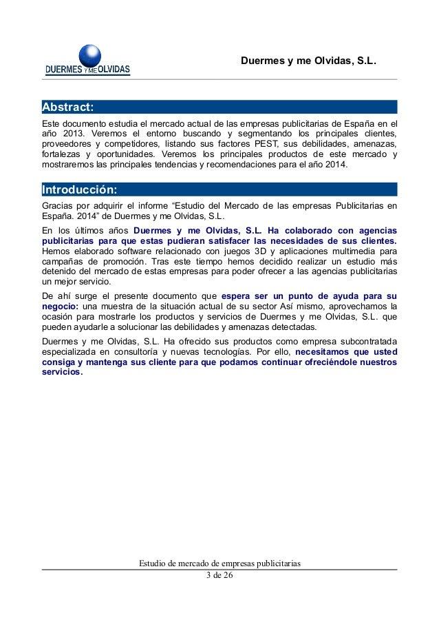Estudio De Mercado Para Las Agencias De Publicidad De Madrid 2014