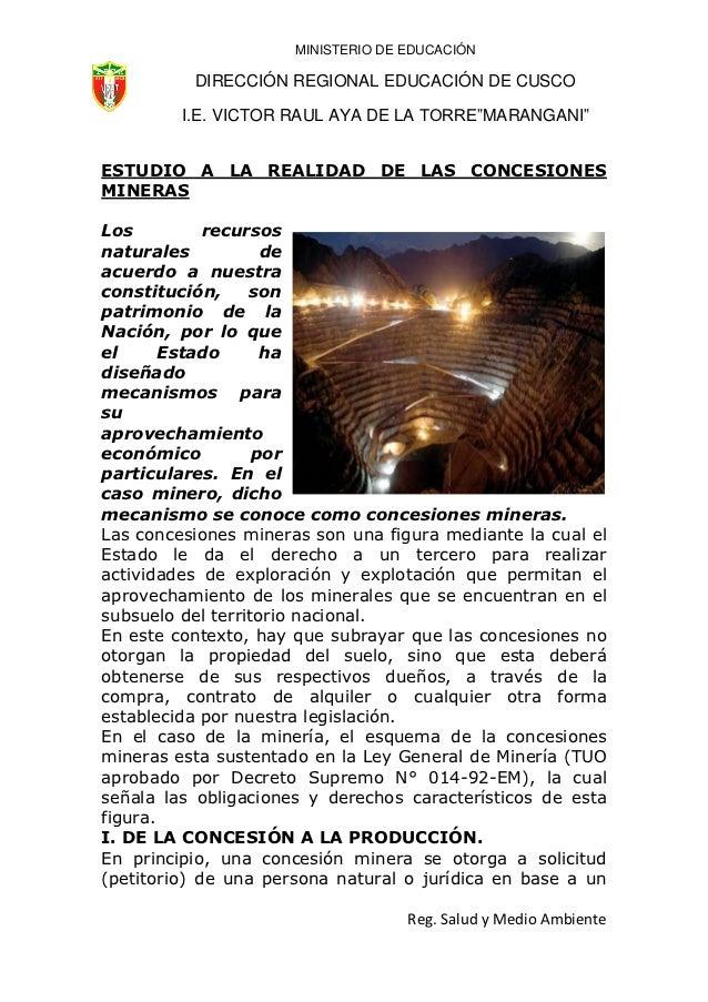 """MINISTERIO DE EDUCACIÓN          DIRECCIÓN REGIONAL EDUCACIÓN DE CUSCO         I.E. VICTOR RAUL AYA DE LA TORRE""""MARANGANI""""..."""