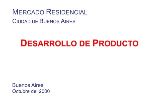 Estudio base para diseño producto residencial ba 2000