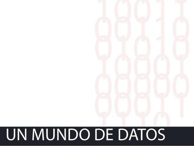11110 10011 0011001010 10001 00000 00011 1110UN MUNDO DE DATOS