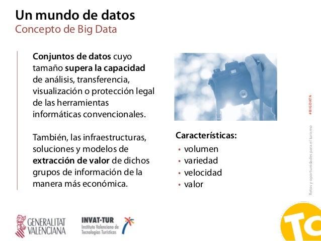 Retosyoportunidadesparaelturismo#BIGDATA Un mundo de datos Concepto de Big Data Conjuntos de datos cuyo tamaño supera la c...