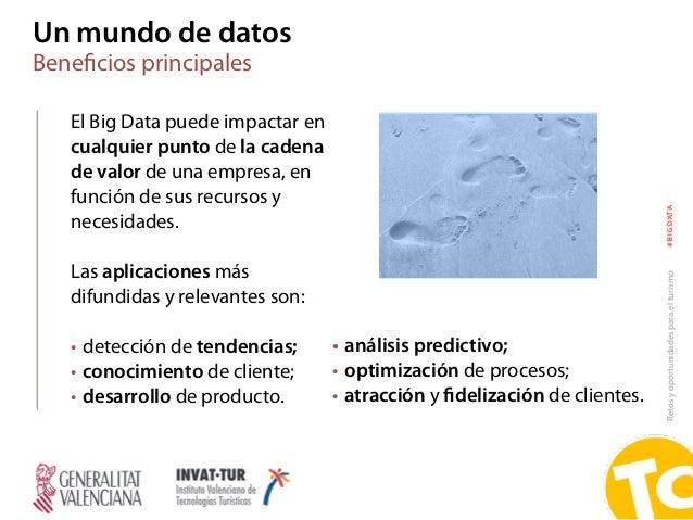 Retosyoportunidadesparaelturismo#BIGDATA Un mundo de datos Beneficios principales El Big Data puede impactar en cualquier p...