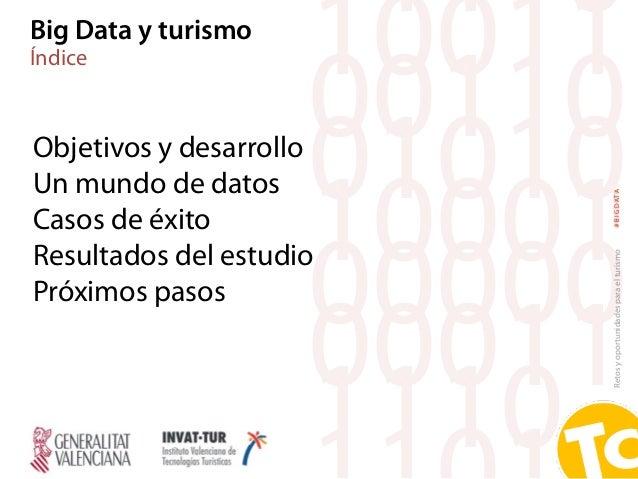 Retosyoportunidadesparaelturismo#BIGDATA Objetivos y desarrollo Un mundo de datos Casos de éxito Resultados del estudio Pr...