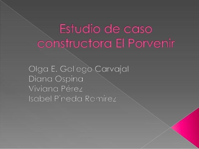 Aplicamos la siguiente encuesta, con elpropósito de determinar si la constructora   deviviendas El Porvenir, puede increme...