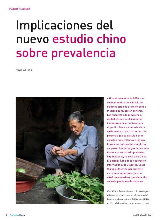 DiabetesVoice Junio 2010 • Volumen 55 • Número 152 DIABETES Y SOCIEDAD A finales de marzo de 2010, una encuesta sobre prev...