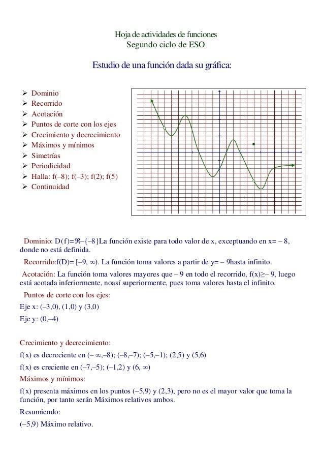 Hoja de actividades de funciones                                    Segundo ciclo de ESO                         Estudio d...