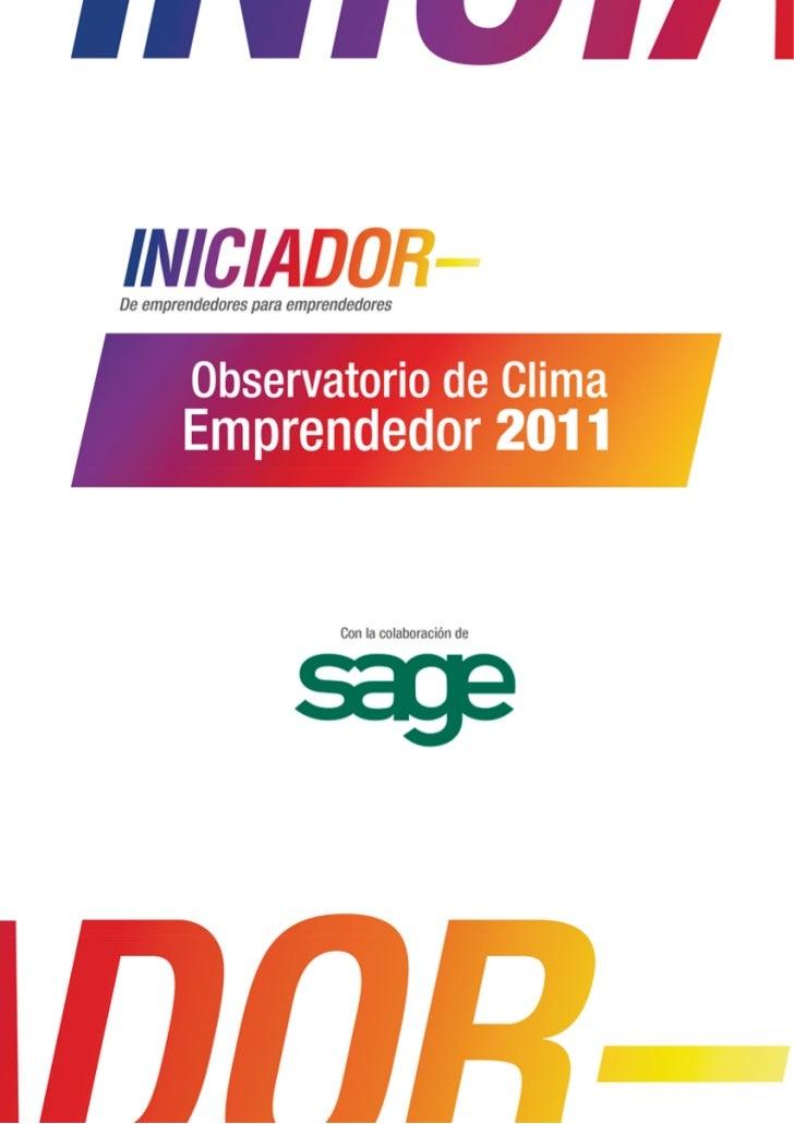 "Estudio ""Observatorio de Clima Emprendedor 2011"""