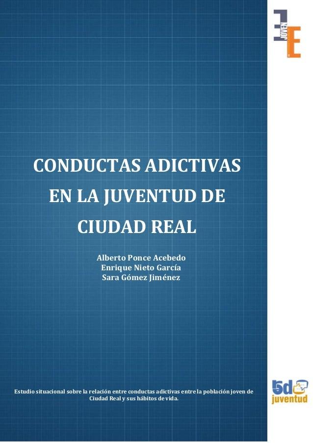 Estudio Conductas Adictivas Jovenes Ciudad Real Red Juventud