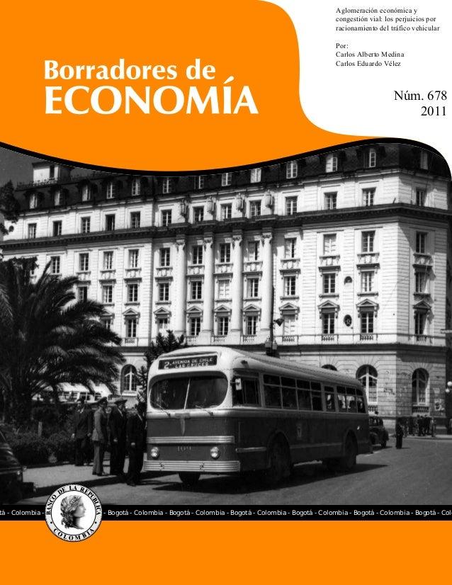 Aglomeración económica y                                                                                                  ...