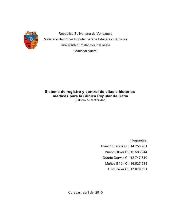 Republica Bolivariana de Venezuela Ministerio del Poder Popular para la Educación Superior            Universidad Politécn...