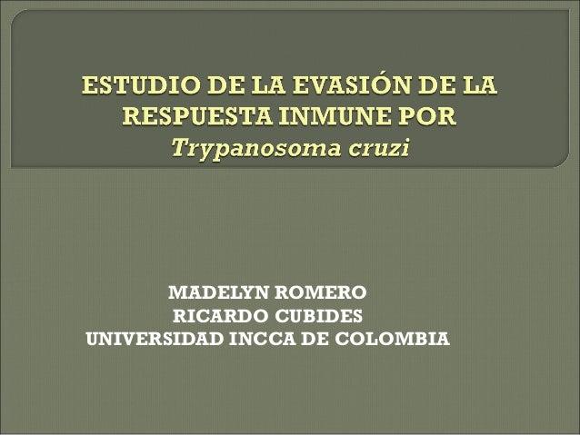 MADELYN ROMERO RICARDO CUBIDES UNIVERSIDAD INCCA DE COLOMBIA