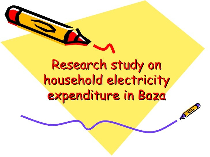 Research study on household electricity  expenditure in Baza