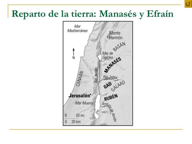 Reparto de la tierra: Manasés y Efraín