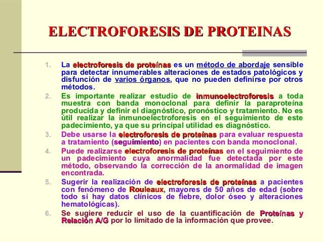 1. La electroforesis de proteínaselectroforesis de proteínas es un método de abordaje sensible para detectar innumerables ...