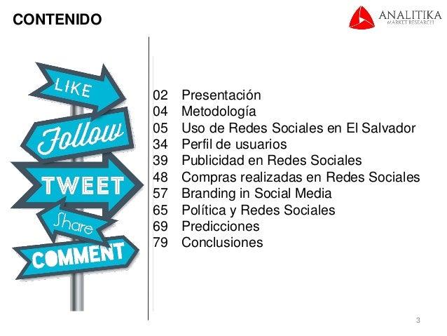 Estudio de Redes Sociales 2015 (El Salvador) Slide 3