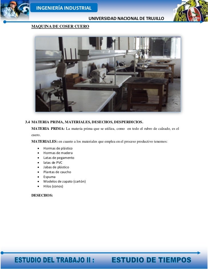 INGENIERÍA INDUSTRIAL                                        UNIVERSIDAD NACIONAL DE TRUJILLO  MAQUINA DE COSER CUERO3.4 M...