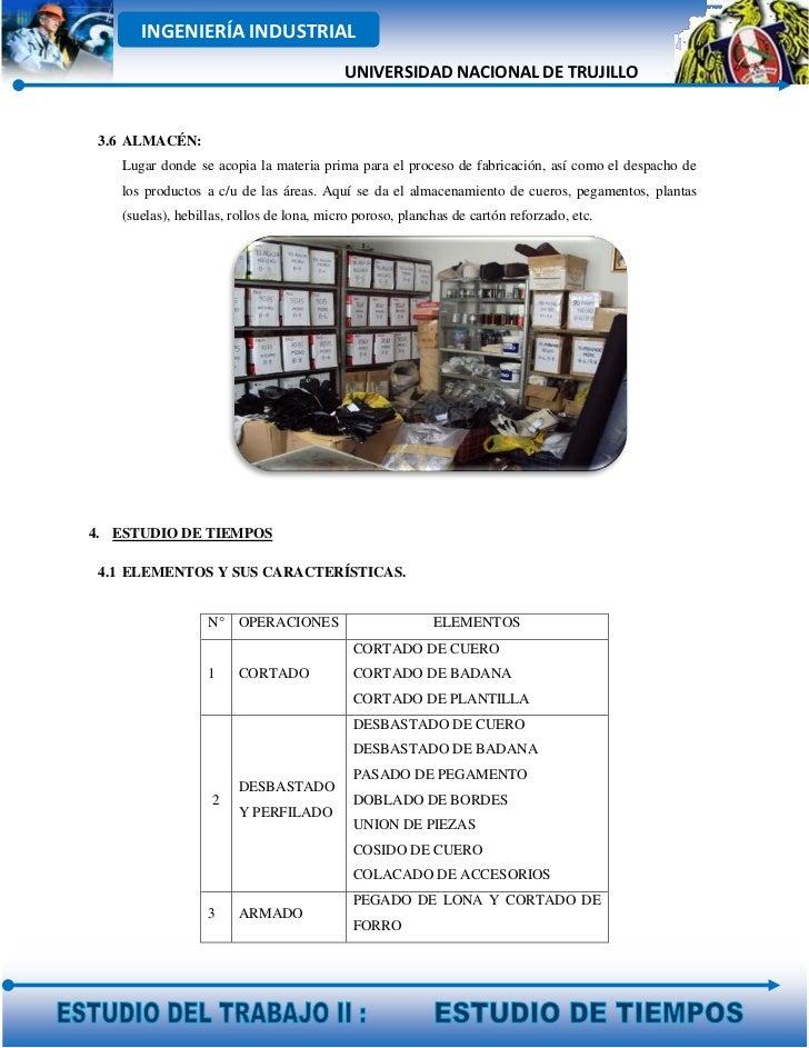 INGENIERÍA INDUSTRIAL                                          UNIVERSIDAD NACIONAL DE TRUJILLO 3.6 ALMACÉN:   Lugar donde...