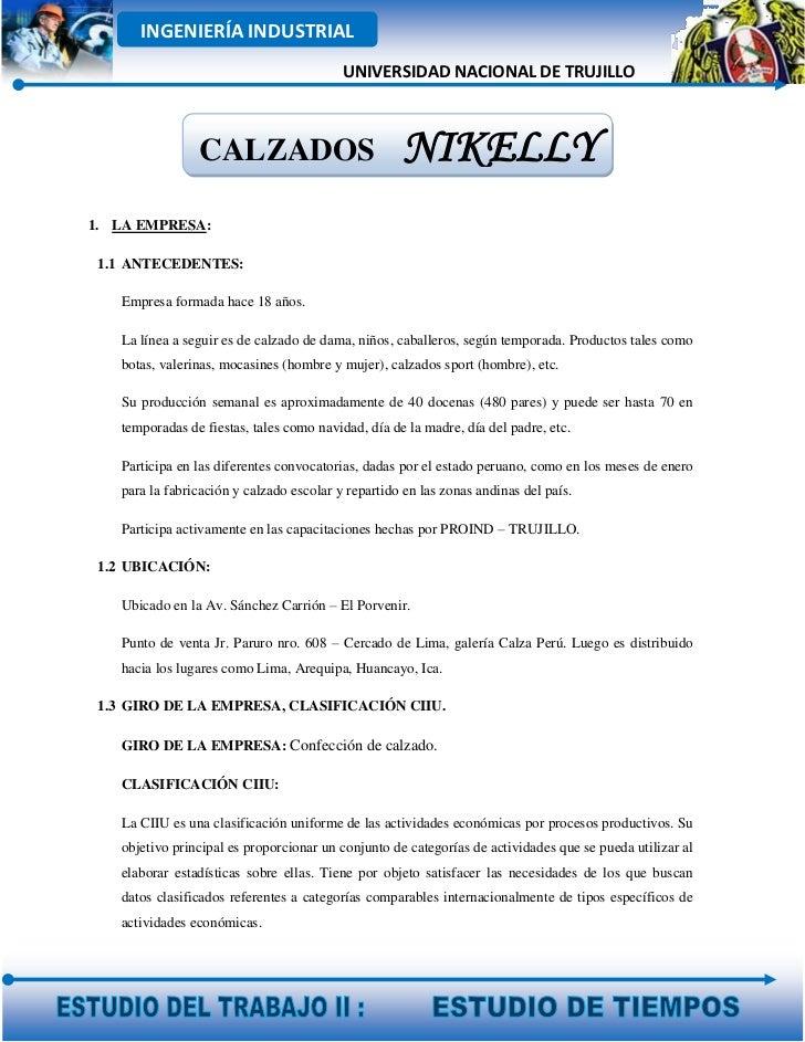 INGENIERÍA INDUSTRIAL                                          UNIVERSIDAD NACIONAL DE TRUJILLO                CALZADOS   ...