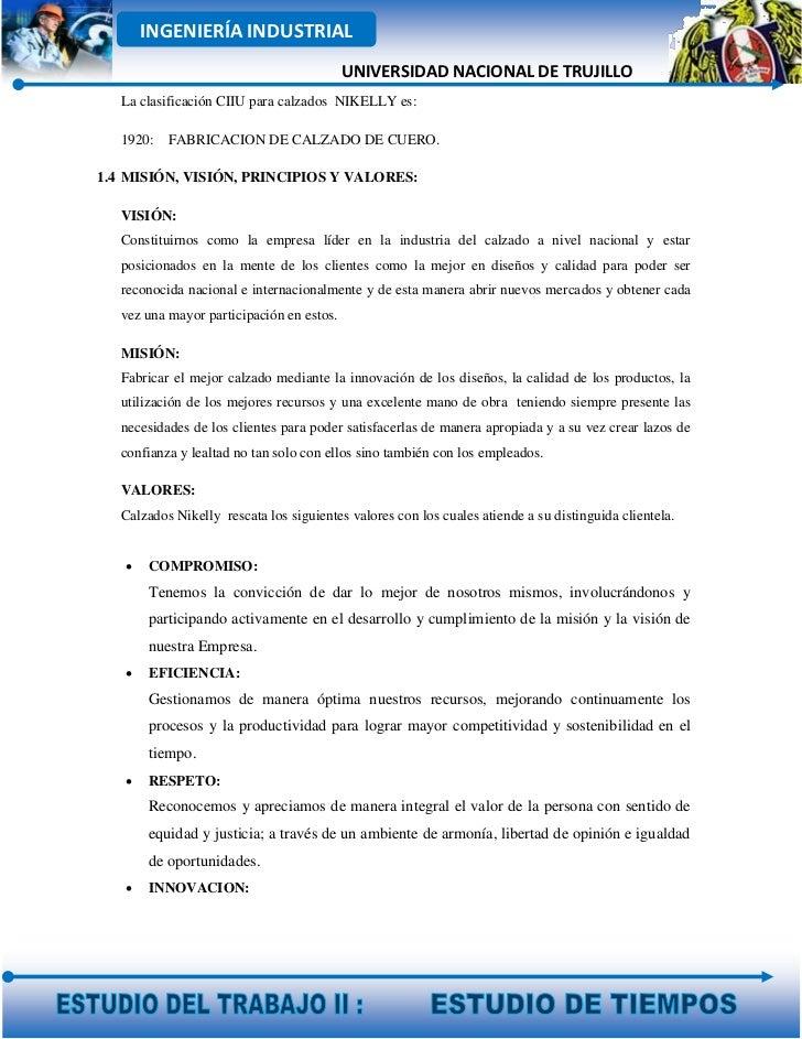 INGENIERÍA INDUSTRIAL                                           UNIVERSIDAD NACIONAL DE TRUJILLO   La clasificación CIIU p...