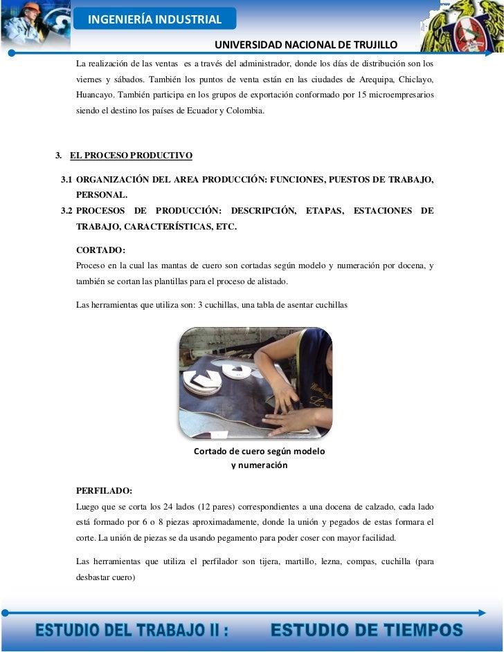 INGENIERÍA INDUSTRIAL                                          UNIVERSIDAD NACIONAL DE TRUJILLO   La realización de las ve...