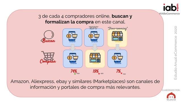 ELABORADO POR: EstudioAnualeCommerce2020 #IABeCommerce 3 de cada 4 compradores online, buscan y formalizan la compra en es...
