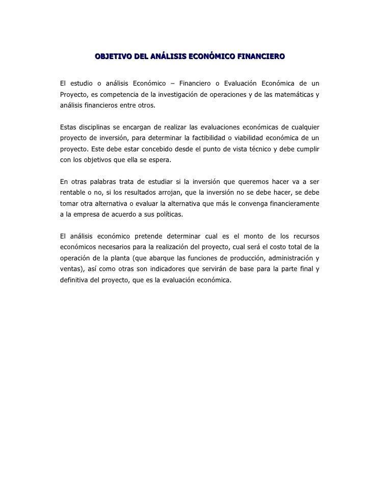 ESTRUCTURA DEL ANÁLISIS ECONÓMICO FINANCIERO                  INGRESOS           COSTOS FINACIEROS TABLA         DE PASO D...