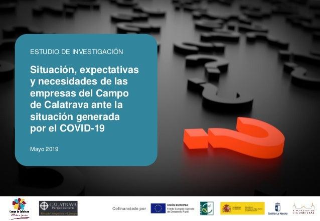 ESTUDIO DE INVESTIGACIÓN Situación, expectativas y necesidades de las empresas del Campo de Calatrava ante la situación ge...