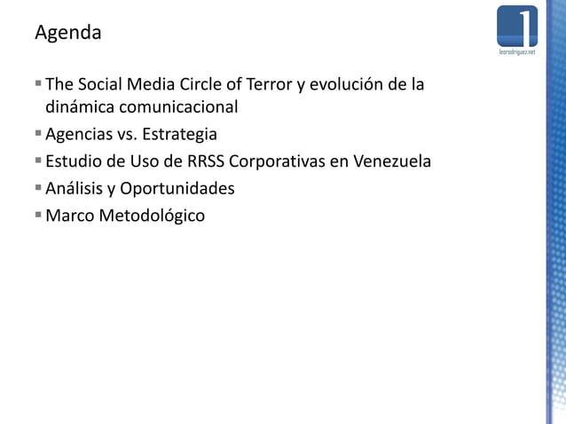 The Social Media Circle of Terror y evolución de la dinámica comunicacional Agencias vs. Estrategia Estudio de Uso de R...
