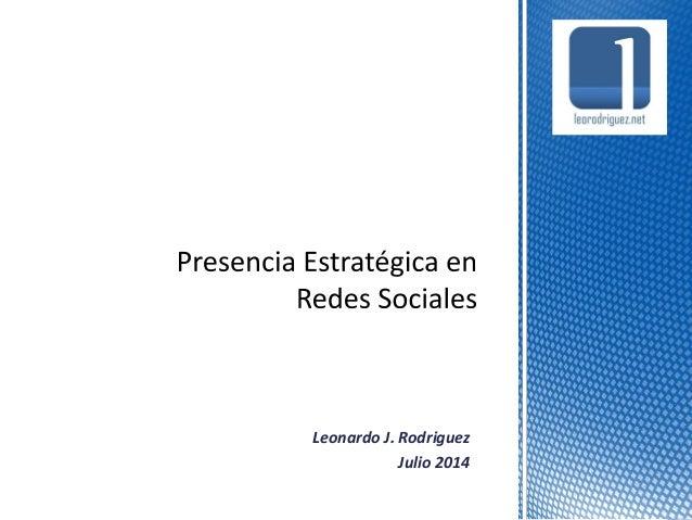 Leonardo J. Rodriguez Julio 2014