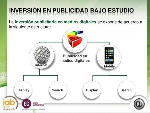 Estudio sobre Inversión Publicitaria en Medios Digitales (Primer semestre 2012) Slide 3