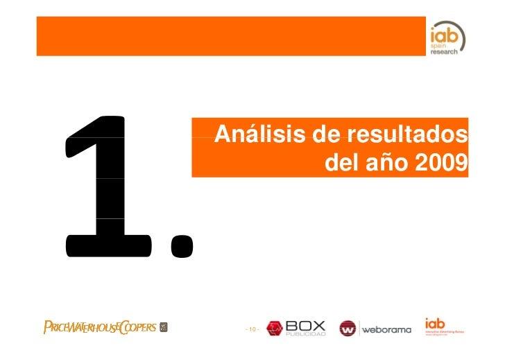Análisis de resultados           del año 2009       - 10 -