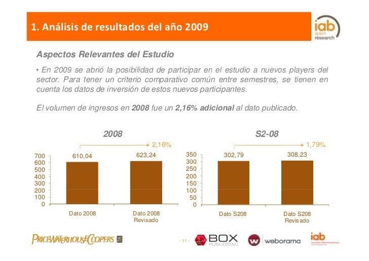 1.Análisisderesultadosdelaño2009   Aspectos Relevantes del Estudio  • En 2009 se abrió la posibilidad de participar...